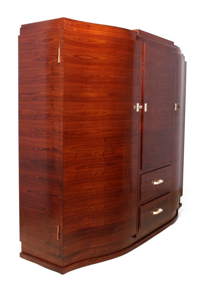 Art Deco Cabinet in Rosewood by Jules Leleu For Sale 3