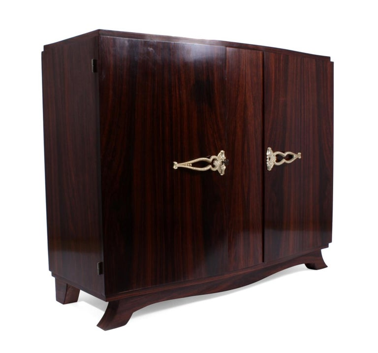 Mid-20th Century French Art Deco Sideboard in Rosewood, circa 1930 For Sale