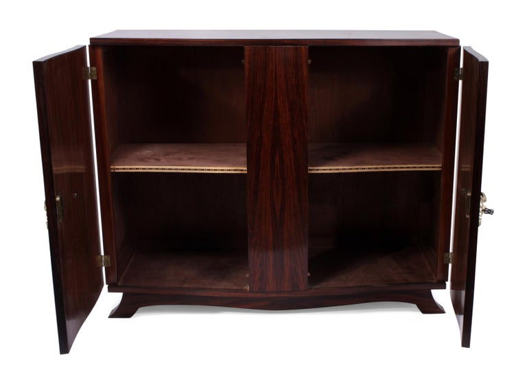 French Art Deco Sideboard in Rosewood, circa 1930 For Sale 3