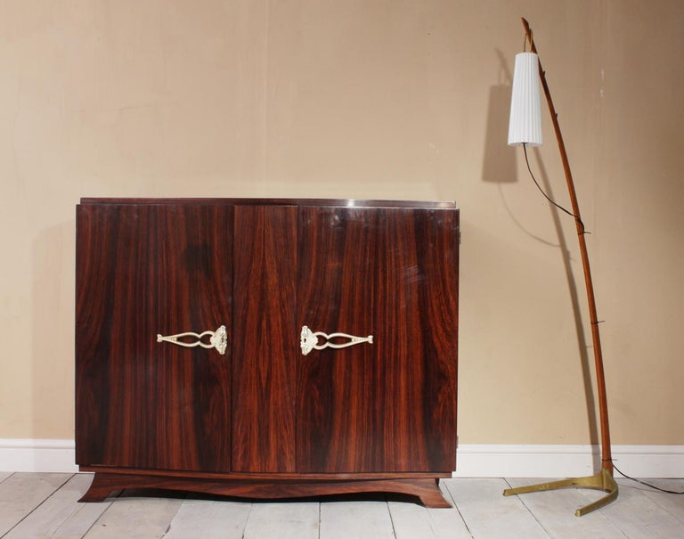 French Art Deco Sideboard in Rosewood, circa 1930 For Sale 4