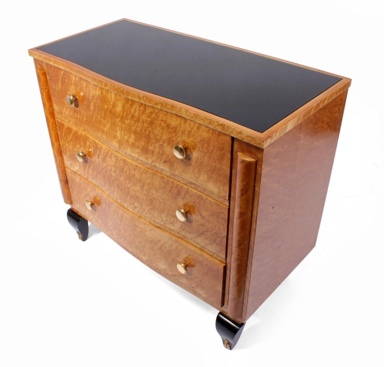 Art Deco Chest of Drawers in Bird's-Eye Maple For Sale 2