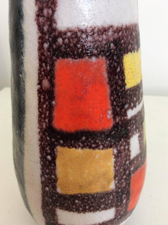 Guido Gambone Glazed Ceramic Vase, 1950s, Italy For Sale 2