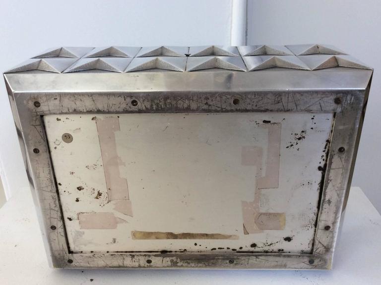 Kostbare Schachtel aus vergoldetem Silber im Diamant-Design, Frankreich, 1970er Jahre 6