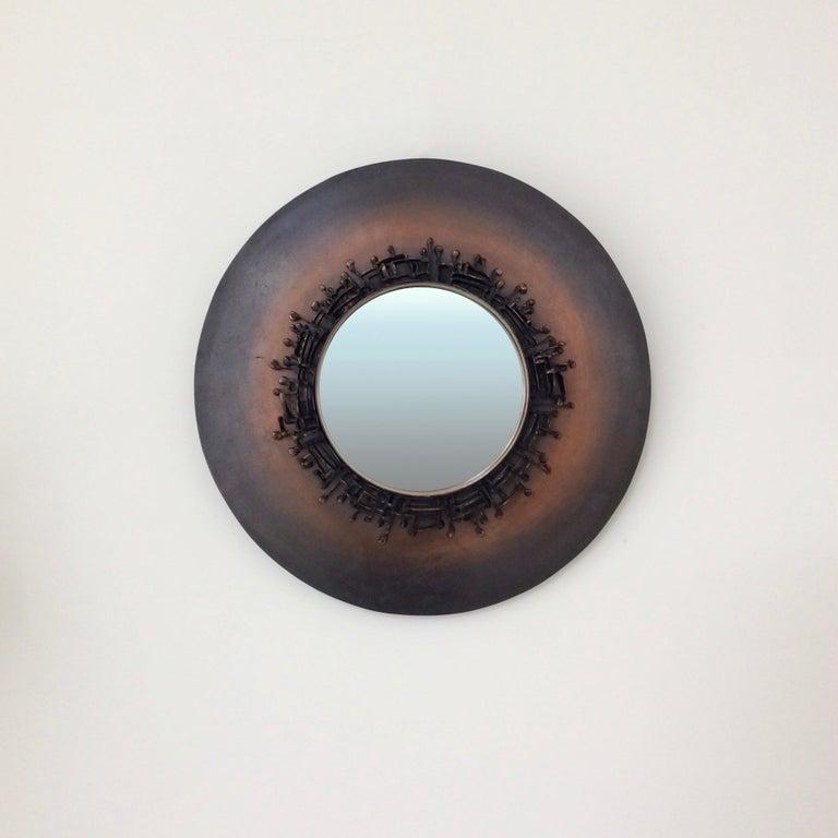Decorative Round Mirror, circa 1970, France For Sale 1