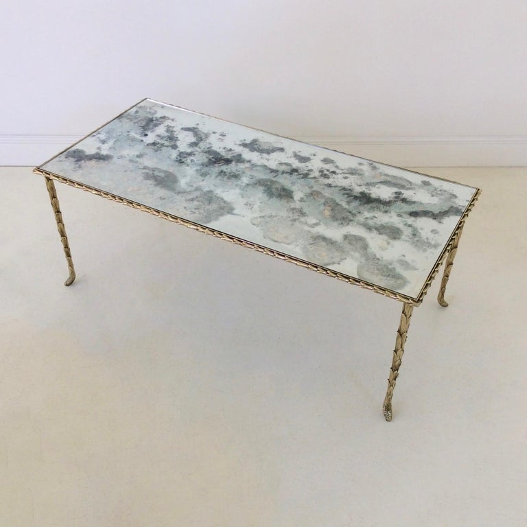 Gilt Bronze Coffee Table by Maison Baguès, circa 1950, France For Sale 2