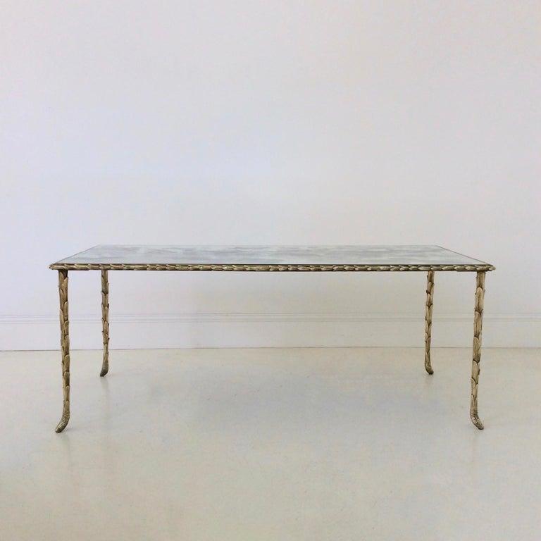 Gilt Bronze Coffee Table by Maison Baguès, circa 1950, France For Sale 3