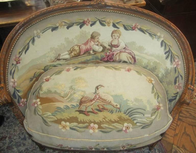 Pair of th century french louis xvi style carved walnut