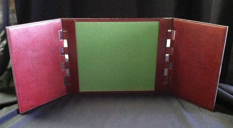 french herms leather desk pad 3
