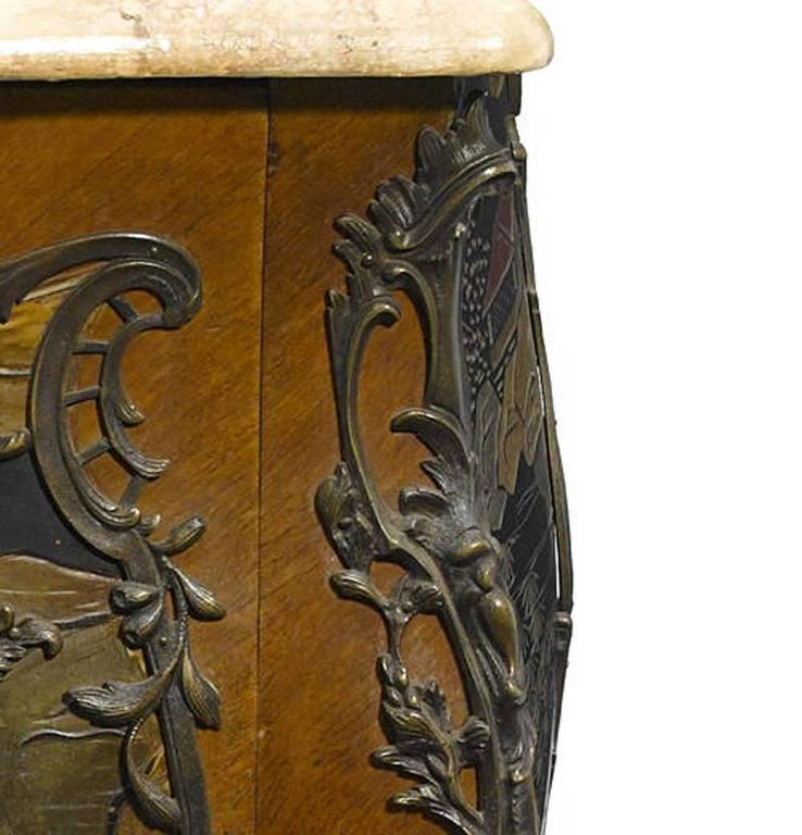 French Louis XV Style Chinoiserie Coromandel Commode, 19th Century For Sale