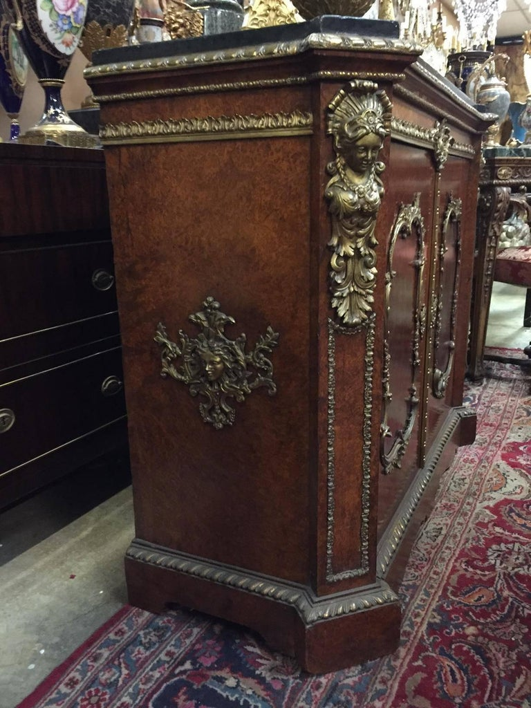Pair of French Gilt Bronze-Mounted Cabinets, 19th Century For Sale 3