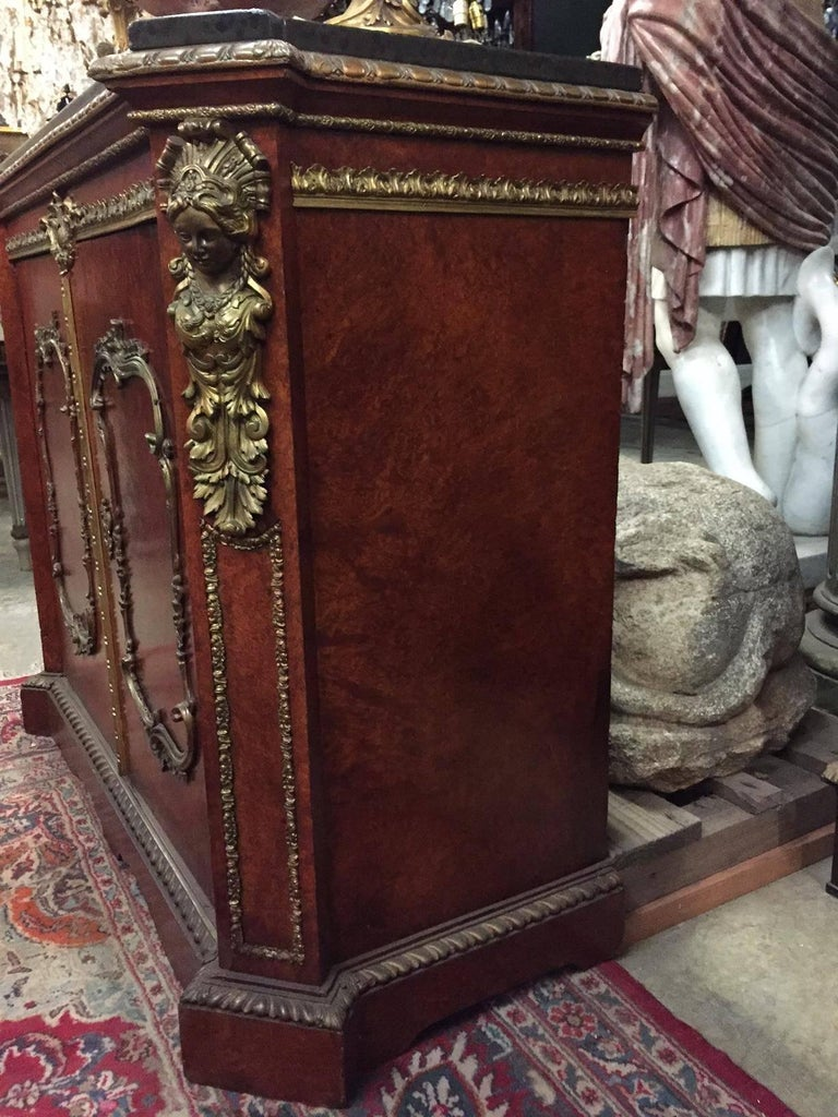 Pair of French Gilt Bronze-Mounted Cabinets, 19th Century For Sale 1