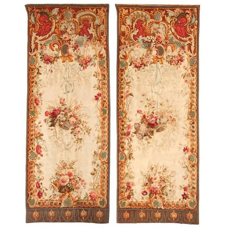Pair of 19th Century French Aubusson Tapestries