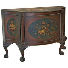 George III Style Painted Leather Commode