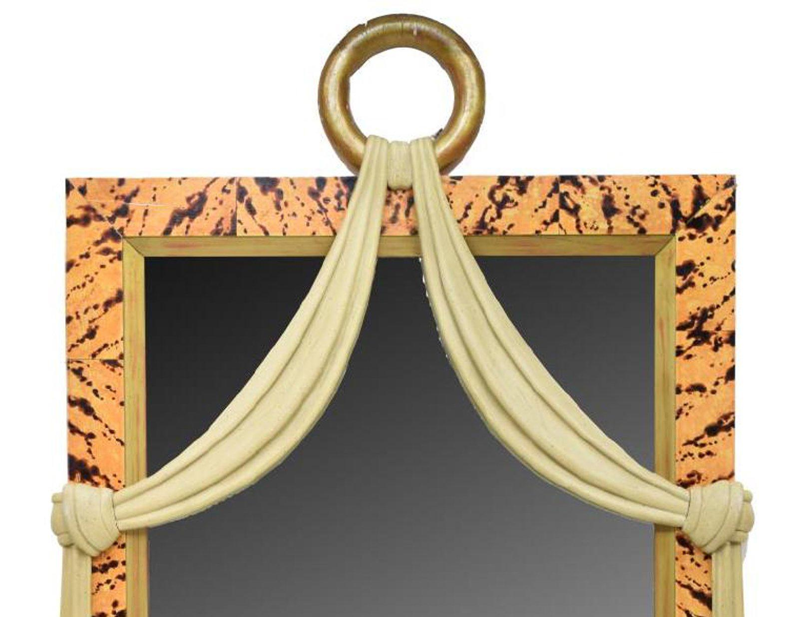 Art Deco Spiegel : Pix italienische art deco stil faux schildpatt geschnitzter holz