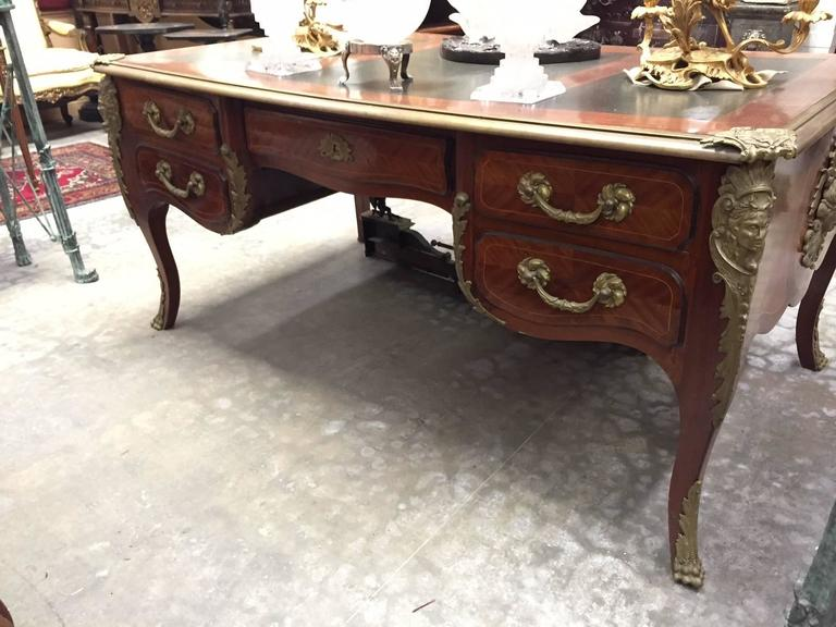 Louis XV Style Ormolu-Mounted Bureau Plat Desk, 19th Century 7