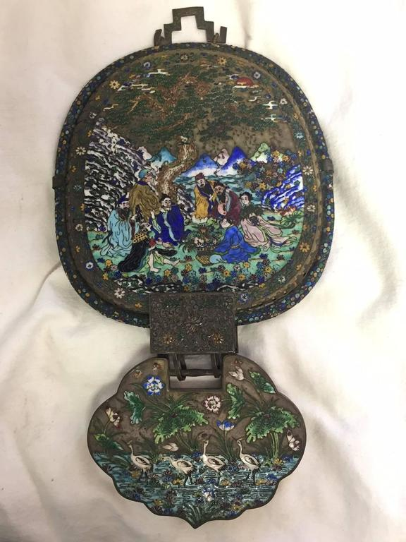 Antique Chinese Enamel Mirror For Sale At 1stdibs