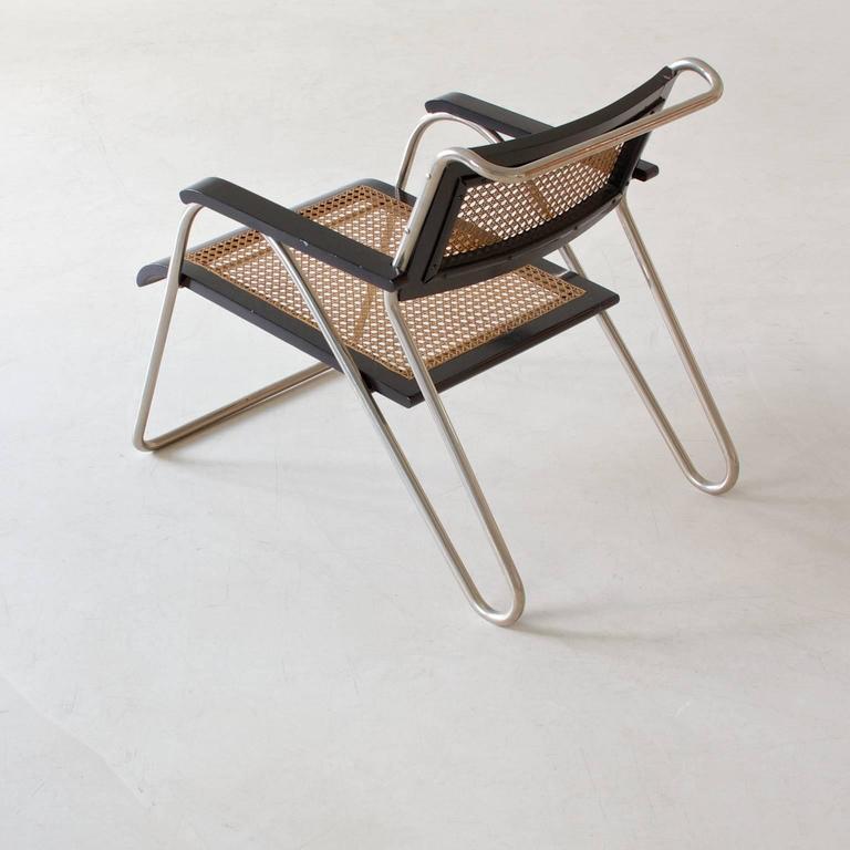 Rare Bauhaus Tubular Steel Armchair Pair by Erich Dieckmann, 1931 In Excellent Condition For Sale In Berlin, DE