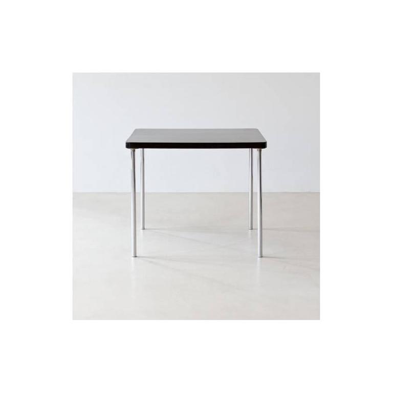 Bauhaus original chrome-plated tubular steel B 14 table by Marcel Breuer and manufactured by Thonet, circa 1930.