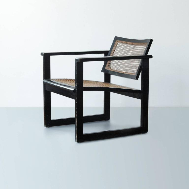Original Bauhaus Wooden Armchair By Peter Keler, Manufactured By Albert  Walde, Waldheim, Germany