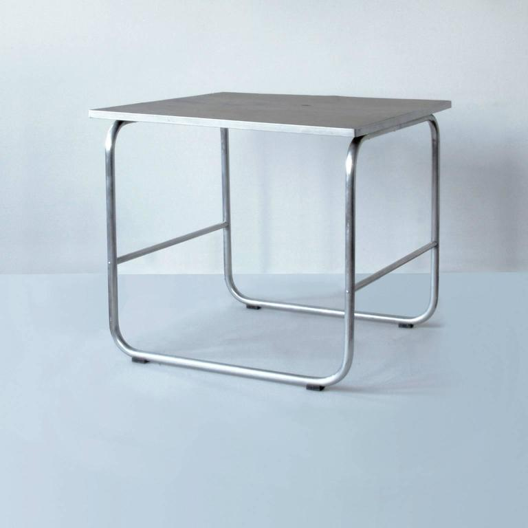 Bauhaus tubular-aluminium table, Germany, circa 1930.