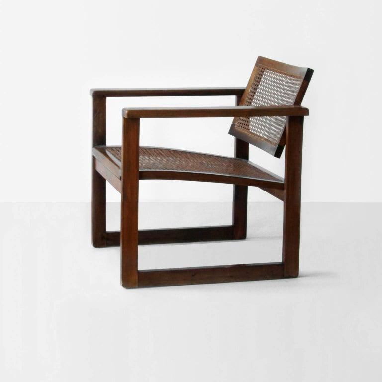 German Bauhaus Wooden Armchairs Pair by Peter Keler, Manufactured by Albert Walde, 1930 For Sale