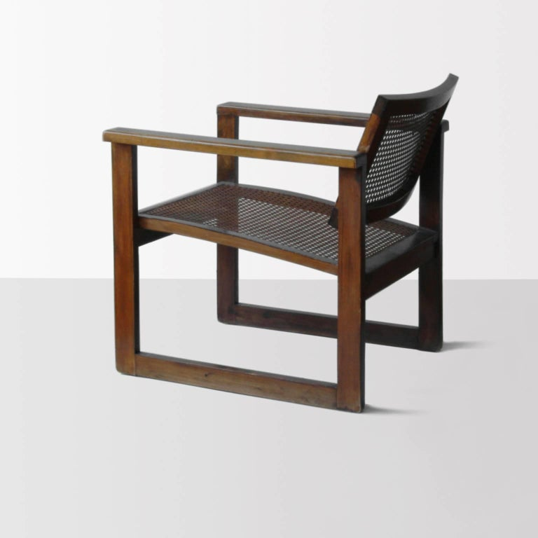 Bauhaus Wooden Armchairs Pair by Peter Keler, Manufactured by Albert Walde, 1930 In Excellent Condition For Sale In Berlin, DE