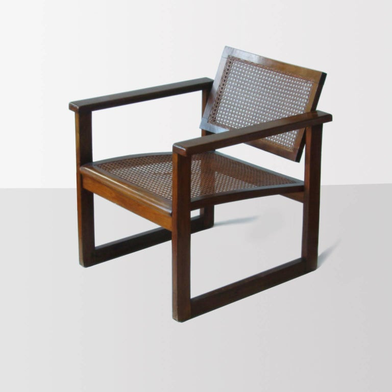 Mid-20th Century Bauhaus Wooden Armchairs Pair by Peter Keler, Manufactured by Albert Walde, 1930 For Sale
