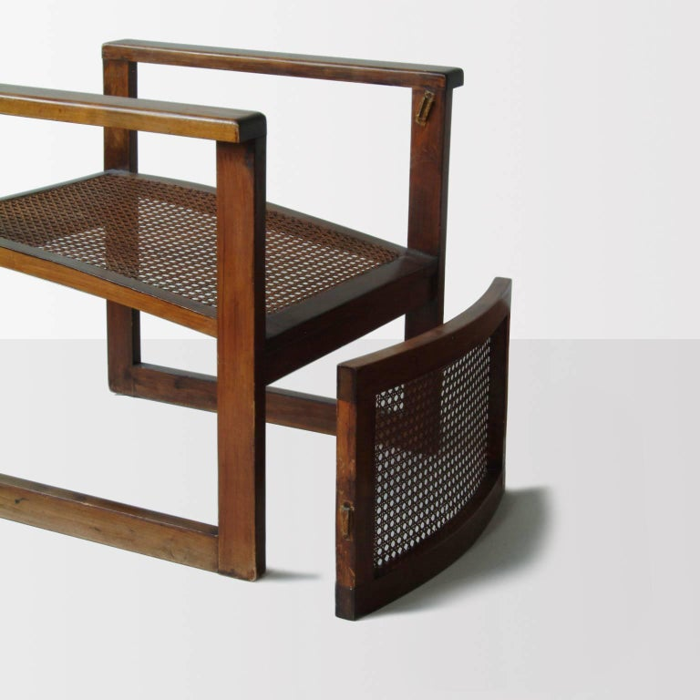 Bauhaus Wooden Armchairs Pair by Peter Keler, Manufactured by Albert Walde, 1930 For Sale 1