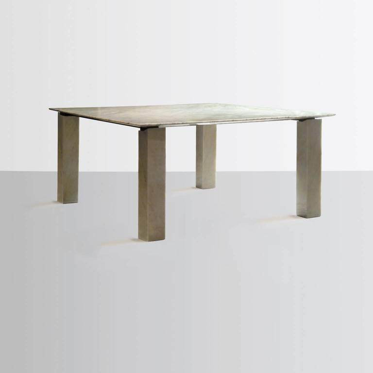 Postmodern Carrara Marble Dining Table Attributed to Cappellini