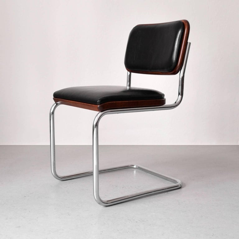 Bauhaus Tubular Steel Cantilever Cesca Chair By Marcel Breuer For