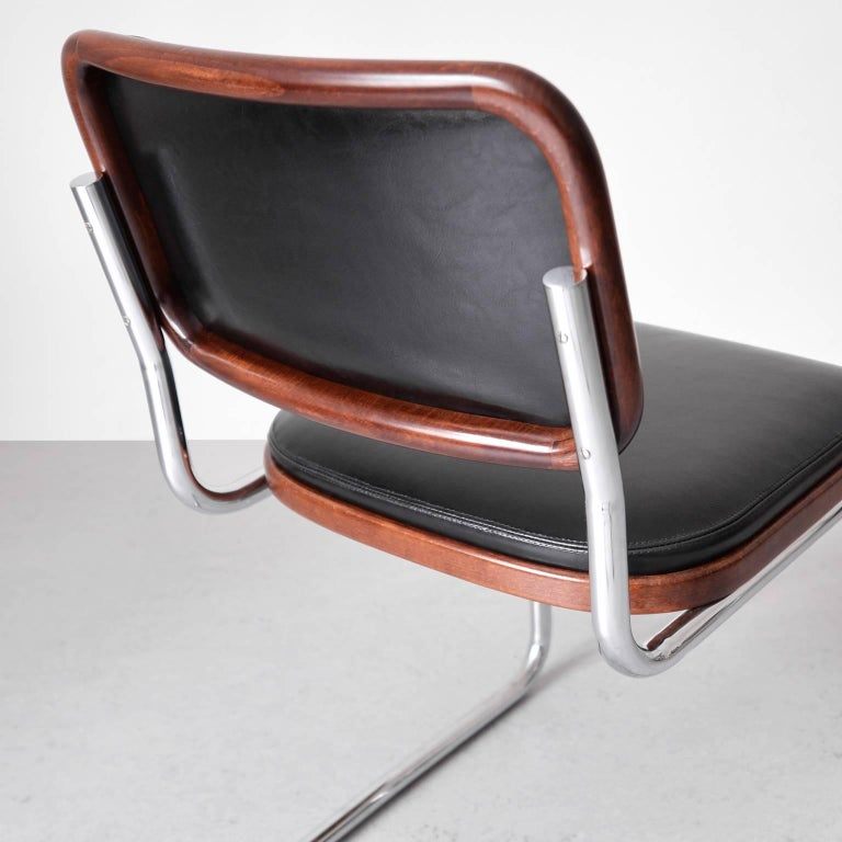"Bauhaus Tubular Steel Cantilever ""Cesca"" Chair By Marcel"