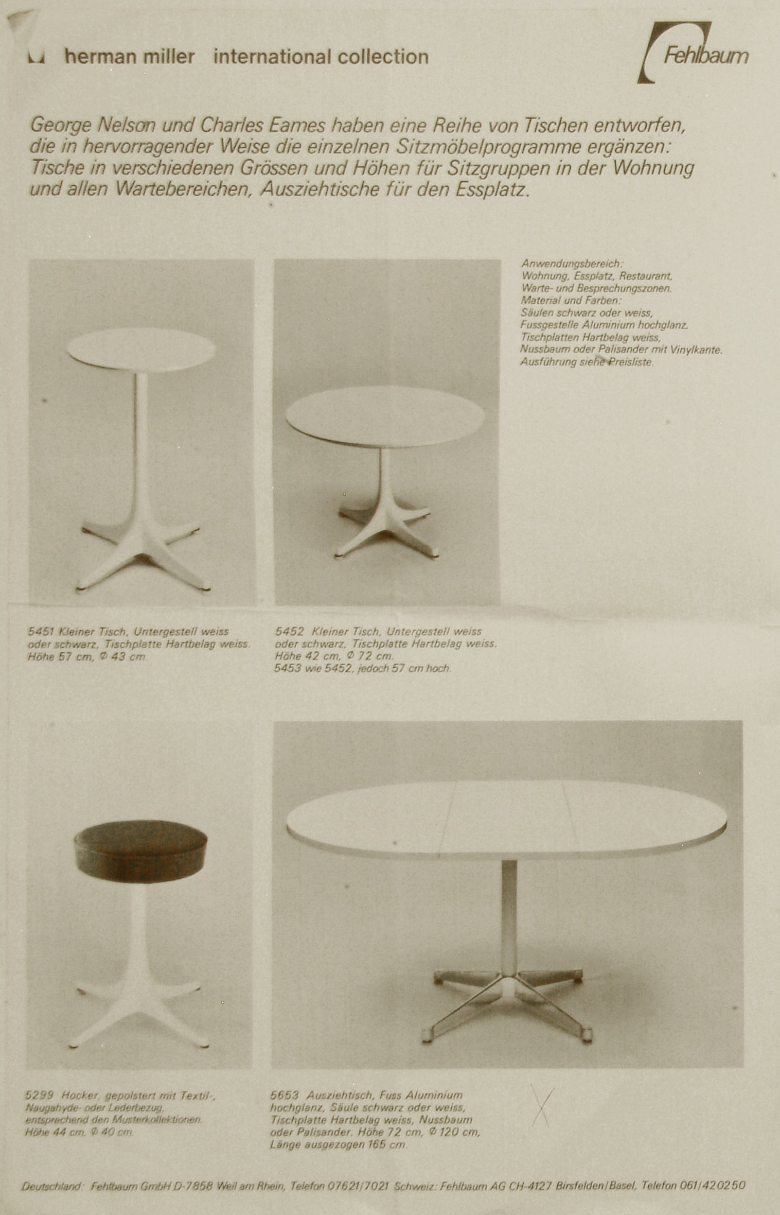 Early Charles And Ray Eames Aluminium Group Dining Set By Herman Miller,  1965 At 1stdibs