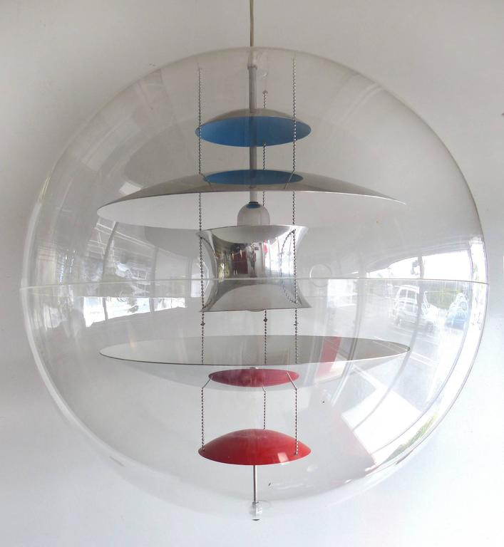 Modern Globe Pendant Lighting : Original mid century modern verner panton vp globe pendant