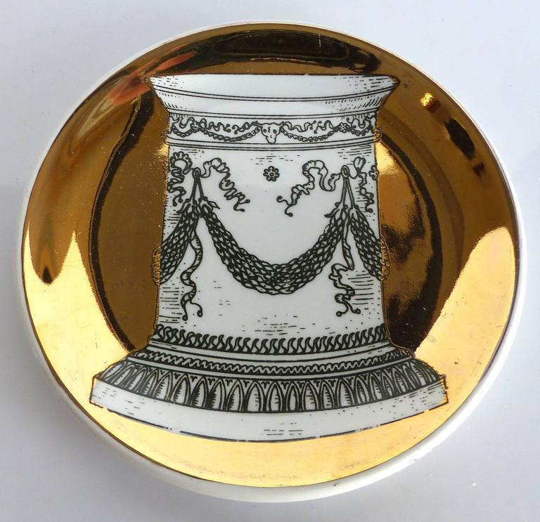 Mid-Century Bucciarelli Milan Porcelain Coasters, Set of Two 2