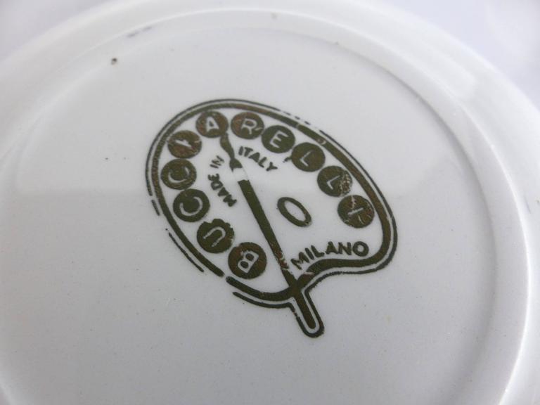 Mid-Century Bucciarelli Milan Porcelain Coasters, Set of Two 9