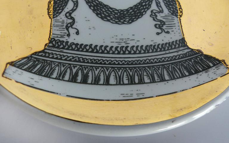 Mid-Century Bucciarelli Milan Porcelain Coasters, Set of Two 4
