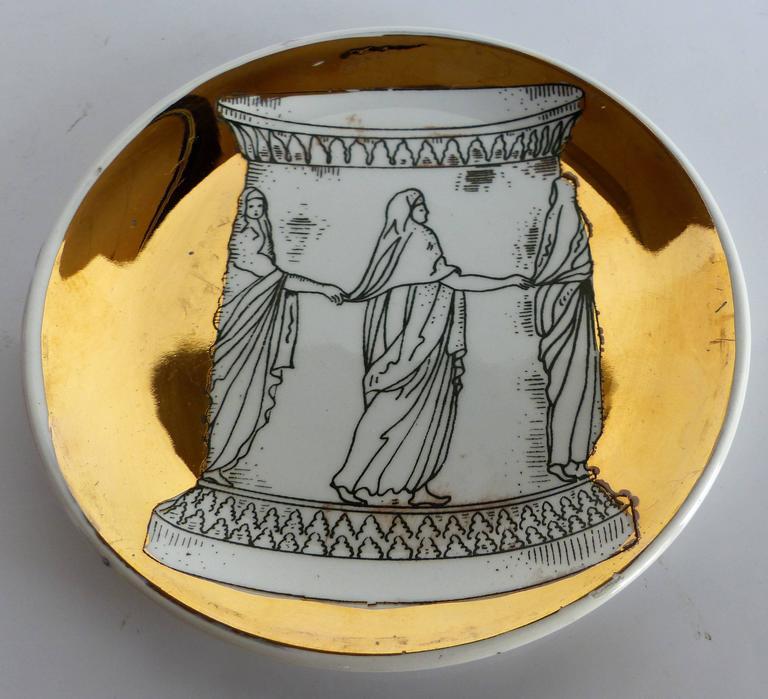 Mid-Century Bucciarelli Milan Porcelain Coasters, Set of Two 3