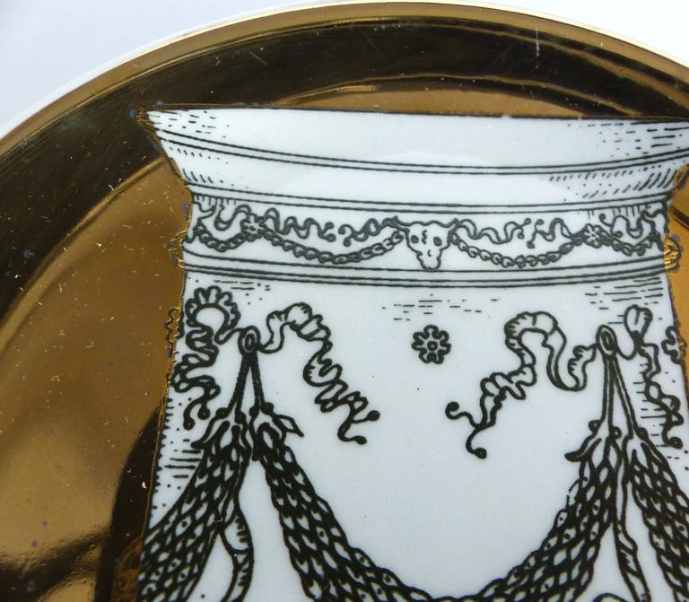 Mid-Century Bucciarelli Milan Porcelain Coasters, Set of Two 5