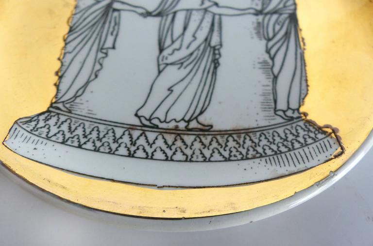 Mid-Century Bucciarelli Milan Porcelain Coasters, Set of Two 6