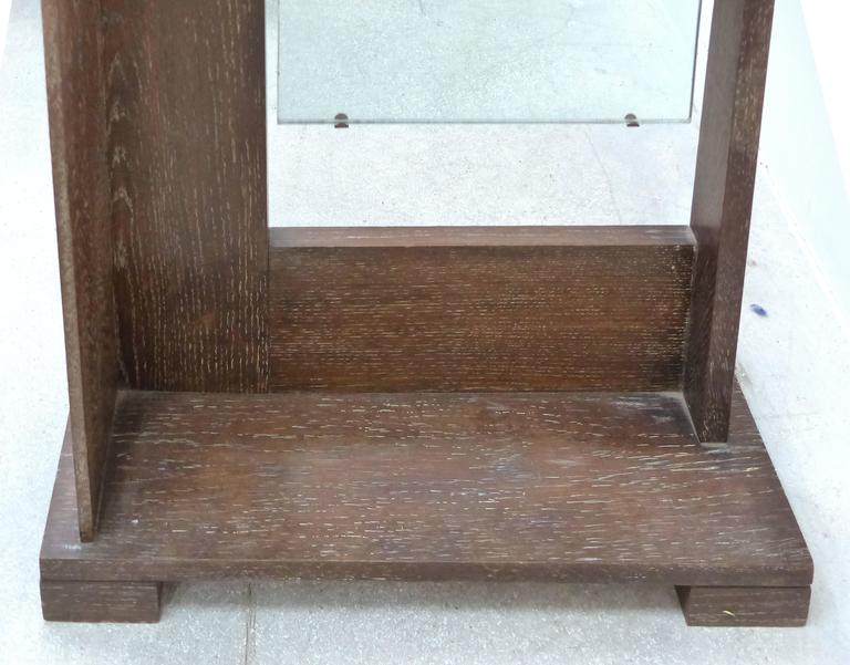 Art Deco Art's & Crafts Cerused Oak Cheval Floor Mirror 5