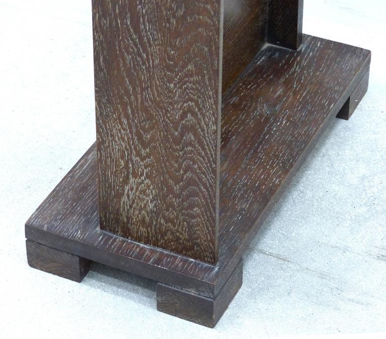 Art Deco Art's & Crafts Cerused Oak Cheval Floor Mirror For Sale 1