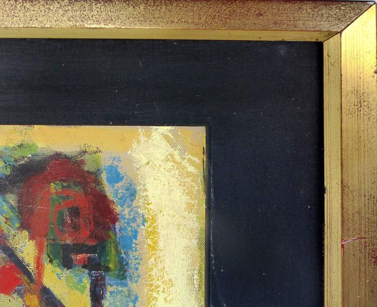 1981 Abstract Oil by Cuban American Artist Oswaldo Gutierrez For ...