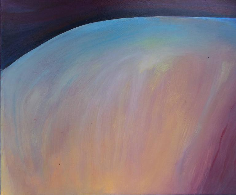 Contemporary Painting on Canvas by Cuban-American Artist Juan A. Navarrete In Excellent Condition For Sale In Miami, FL