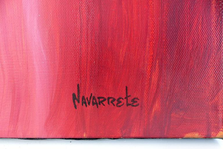 Contemporary Painting on Canvas by Cuban-American Artist Juan A. Navarrete For Sale 3