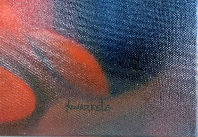 Cuban American Artist Juan Navarrette Oil Painting  In Excellent Condition For Sale In Miami, FL
