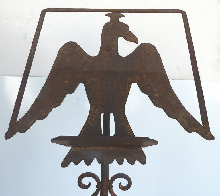 Early 1900s Gilt-Iron Eagle Book-Stand For Sale 4