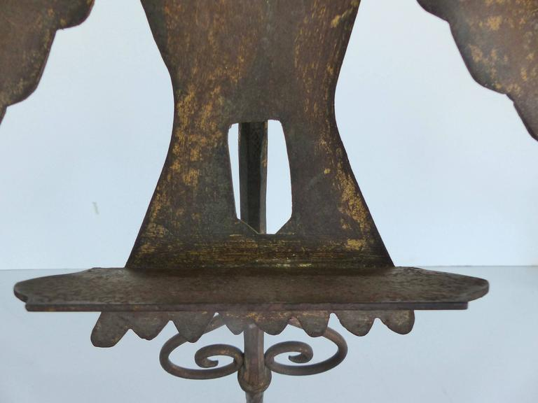 20th Century Early 1900s Gilt-Iron Eagle Book-Stand For Sale