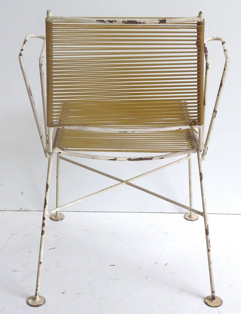 1950s Mathieu Mat 233 Got French Garden Chairs Pair For Sale