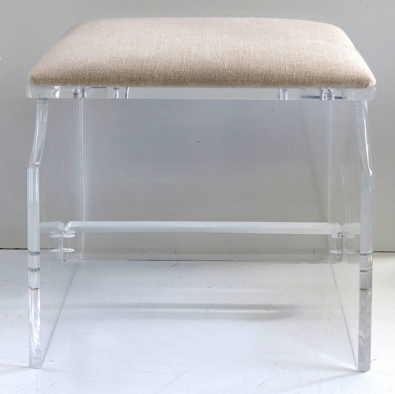 Custom Made Lucite Piano Bench Or Stool For Sale At 1stdibs