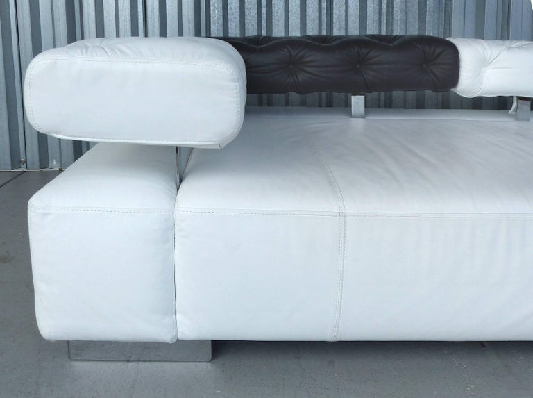 adjustable sunrise two fine leather sofa daybed by br hl bruehl of germany for sale at 1stdibs. Black Bedroom Furniture Sets. Home Design Ideas